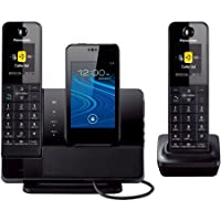Panasonic KX-PRD262B Link2Cell Dock Style Bluetooth Cellular Convergence Solution with 2 Handsets /Color: Black