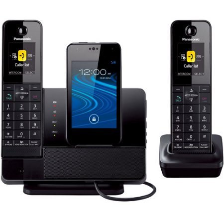 (Panasonic KX-PRD262B Link2Cell Dock Style Bluetooth Cellular Convergence Solution with 2 Handsets /Color: Black)