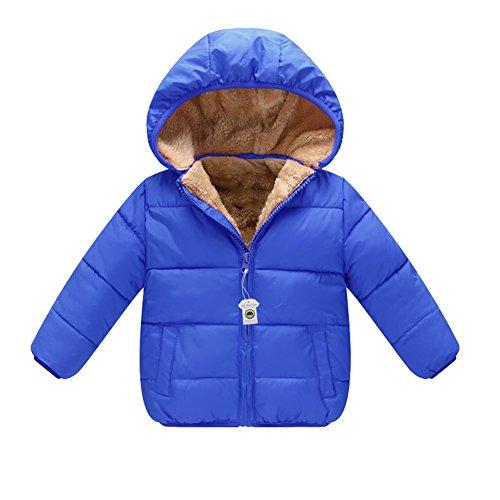 (シンマンエン) Qin Man Yuan キッズ コート ダウンコート 厚手 子供綿服 中綿ジャケット 赤ちゃん ベビー 男の子 女の子 可愛い ソフト 保温 防寒 暖かい フード付き 取り外し可能 男女兼用