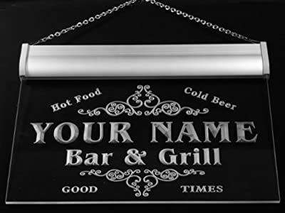 u44325-b TALMADGE Family Name Bar & Grill Home Decor Neon Light Sign