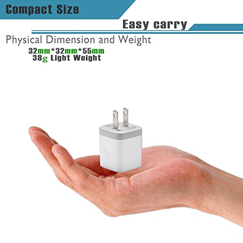USB Wall Charger, LEEKOTECH Dual Port USB 2.1A Home Travel Wall Charger Plug Power Adapter Charging Block for iPhone X/8/7/6 Plus, iPad, Samsung Galaxy S5/S6/S7 Edge, HTC, LG, ZTE, Moto More (3-Pack) hot sale