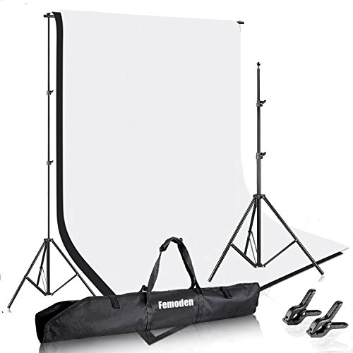 Femonden-65ft-X-10ft2M-X-3M-Photography-Photo-Video-Studio-Backdrop-Background-Kit-for-Portrait-and-Video-ShootingWhiteBlack
