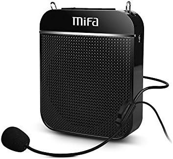 MIFA Mini Amplificador Portatil Recargable, Amplificadores Portable Voice Megáfonos Prácticos y Útiles con Auriculares con Micrófono para Conferencias, Profesores, Visitas Guiadas y Entrenador, Negro: Amazon.es: Electrónica