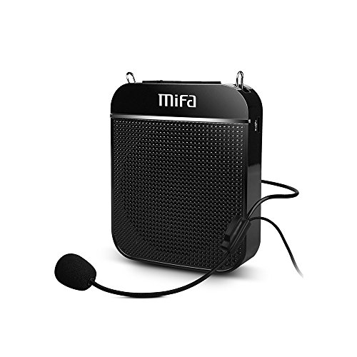 Innovations Wireless Headset - Portable Voice Amplifier, MIFA K8 Ultralight Rechargeable PA System Speaker Wired Headset Microphone & Waistband, Supports TF Card MP3 Audio 10W for Teachers Tour Guides Coaches Training Presentations