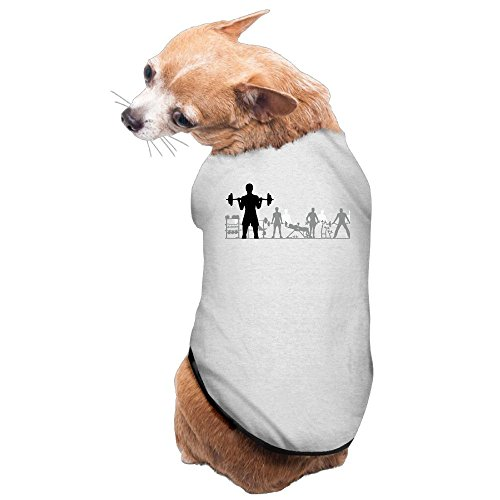 (WUGOU Dog Cat Pet Shirt Clothes Puppy Vest Soft Thin Fitness Group 3 Sizes 4 Colors)