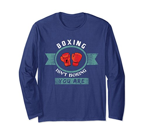 Wrap T-shirt Art (Unisex Boxing isn't Boring You are Funny Martial Arts T-Shirt Small Navy)