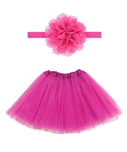 Irish Dancing Costumes Designs (Rush Dance Boutique Costume Princess Ballerina Tutu & Top & Headband Gift Set (Kids (2-8 Years), Hot Pink))
