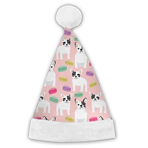 Kux14Bt French Bulldog Funny Party Hats Christmas Hats