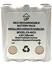2 x 4.8 Volt Cobra Replacement 350 mAh NiCd Microtalk Radio Batteries (FRS/GMRS)