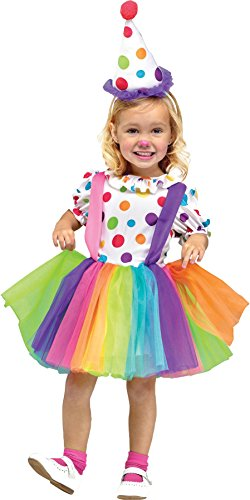 UHC Little Girl's Big Top Fun Clown Polka Dot Rainbow Toddler Child Costume
