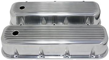 BLACK Aluminum BIG BLOCK Chevy Tall Finned Valve Covers BBC 396 427 454 502