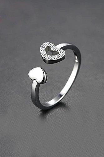 Generic women girl finger ring rings _925_ silver _split Ring Korean_style_of women girls fashion _one-stop_love Ring adj.