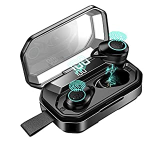 Wireless Earbuds,Bluetooth 5.0 True Wireless Headphones,4000mAh Charging Dock LED Display 200H Playtime,IPX7 Waterproof in-Ear Headset Earphones,Built-in Mic with bass 3D Stereo Sound for Sports