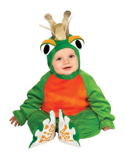 [Rubie's Costume Cuddly Jungle Frog Romper Prince Costume, Green, 6-12 Months] (Prince Frog Costumes)