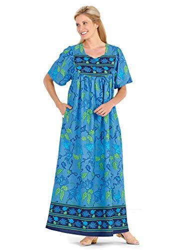 (AmeriMark Long Cotton Muumuu Blue)