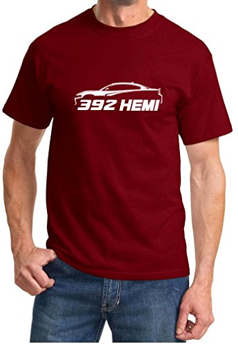 Dodge Charger 392 Hemi Classic Outline Design Tshirt 2XL Maroon (1969 Dodge Charger General Lee For Sale)
