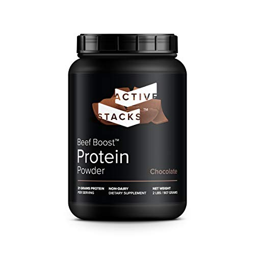 Beef Protein Powder, Chocolate - Dairy Free with Natural Collagen for Keto, Paleo, Bone Broth & Low Carb Diets, 2 Pound
