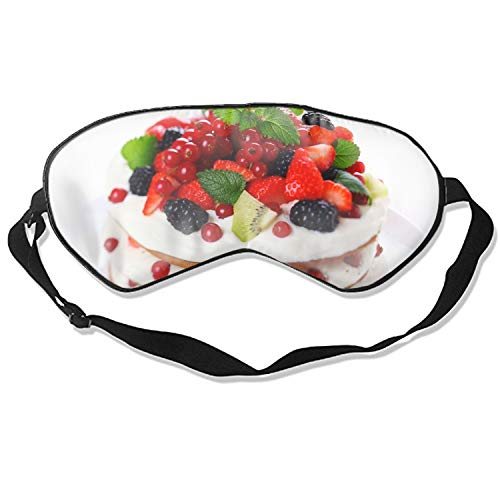 Kiwi Strawberry Cake Blackberries Currants Silk Eye Mask Comfortable Sleeping Eye Shade Mask