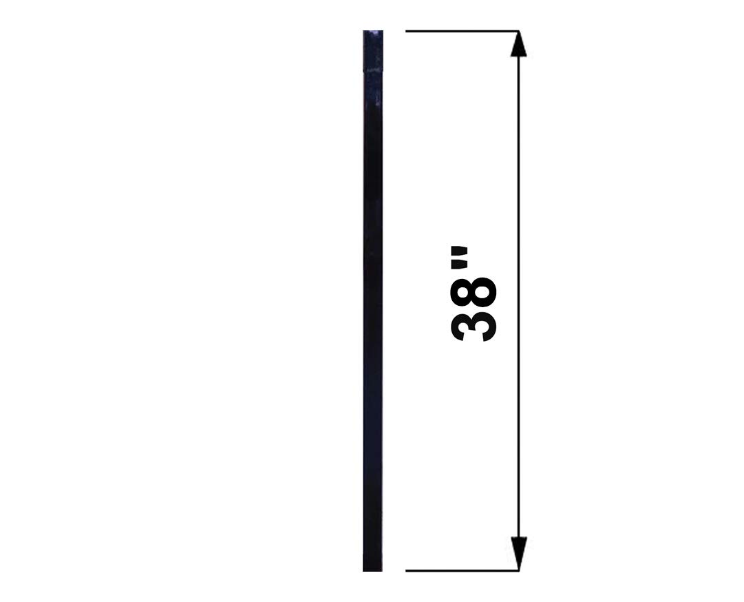 RCTB38 10 pcs Powder Coated Black Baluster 1 x 1//2 Rectangular 38 Long