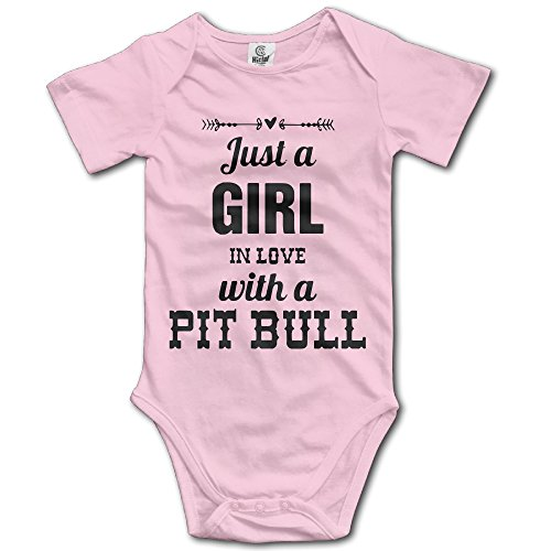 Price comparison product image Infant Just A Girl In Love With A Pit Bull Lover Cute Baby Onesie Bodysuit