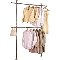 PRINCE HANGER | Silver Crome Adjustable 2 Tier Hanger, Chrome, Steel | Heavy Duty | PHUS-0022
