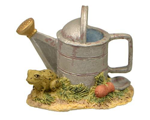 Goebel & Schmid Collectible Figurine Garden Toad Frog with Sprinkler Can Lowell Davis