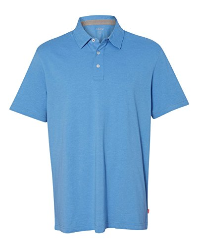 IZOD Men's Original Silk-Wash Pique Sport Shirt (99299), 3XL, Flame ()