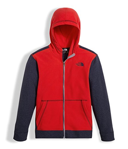 The North Face Red Fleece (The North Face Boy's Glacier Full Zip Hoodie - TNF Red - XL (Past Season))