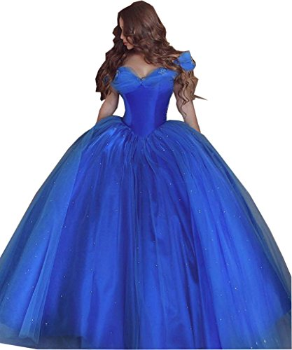 Andybridal Princess Cinderella Quinceanera Dress Sweet 16 Ball Gown Blue 14