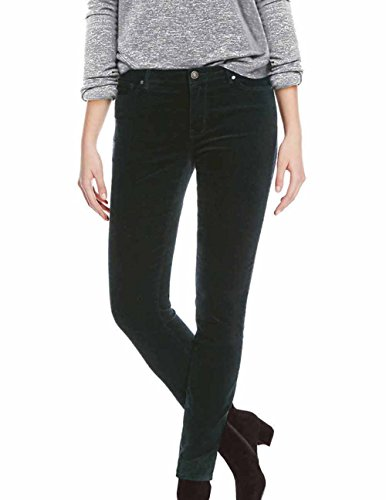 (BUFFALO David Bitton Women's Faux Velvet Skinny Pant with Stretch (Navy, 12/32))