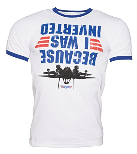 Mens Top Gun Because I Was Inverted Ringer T Shirt