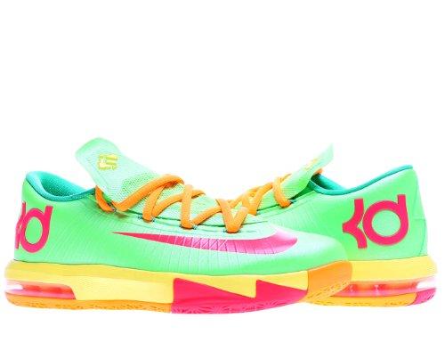 0bb3dbab59a2 Nike KD VI LAM Kids Shoes Flash Lime Sonic Yellow Gamma Green Atomic Red  599477-300 (SIZE  6Y)