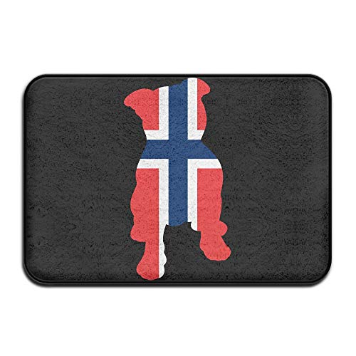 Pit Bull New Front Stand - EWD8EQ Norway Flag in Pitbull Non-Slip Indoor/Outdoor Door Mat Rug Health Wellness Toilet Entrance Rug 23.6