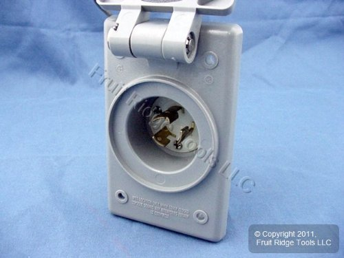 (Leviton 4716-FWP L5-15 Locking Flanged Inlet Plug and Cover)