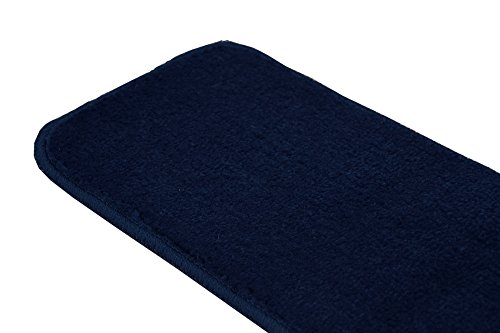 RugStylesOnline TRENDY-ST-8X30-NAVY-13 Trendy Stair Tread Treads Indoor Skid Slip Resistant Carpet Stair Tread Treads Machine Washable 8 ½'' W x 30'' L, Royal Navy Blue, Set of 13 by RugStylesOnline (Image #6)