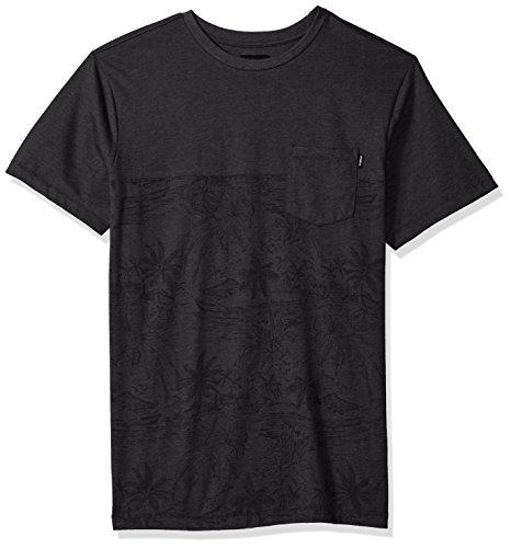 Shirt Hawaiian Street (O'Neill Men's Standard Fit Pocket Logo Short Sleeve Tee Shirt, Black/Crooked, XL)
