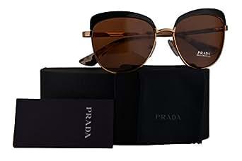 Amazon.com: Prada Authentic Sunglasses PR51TS Gold Black w