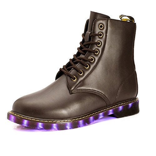 Fashion High Top LED Boots USB Charging Led Light Up Adult Shoes