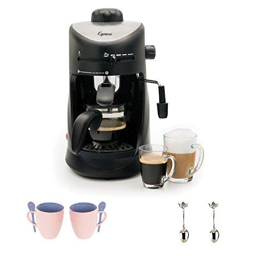 Capresso 303.01 4-Cup Espresso and Cappuccino Machine with Accessory Bundle by CAPRESSO