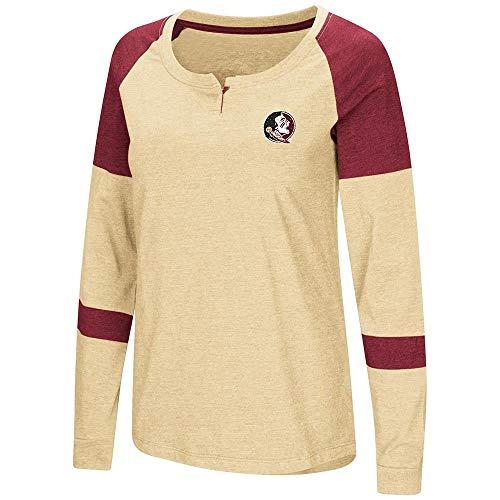 Colosseum Womens Florida State Seminoles Long Sleeve Raglan Tee Shirt - XL