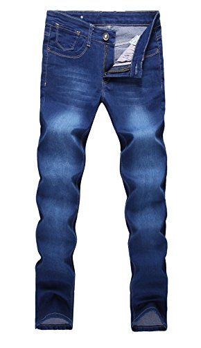 AmorGafas Men's Slim Straight fit Biker Jeans Denim Pants