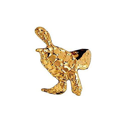 14kt Gold Vermeil Left Only Sea Turtle Ear Cuff (Vermeil Turtles)