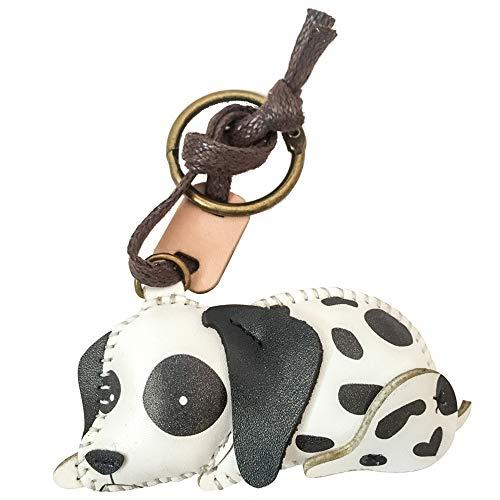 Dalmatian Keychain - 3XU Leather Charm,Unique Bag Charm,Cute Key Chain (Dalmatian-PT064)