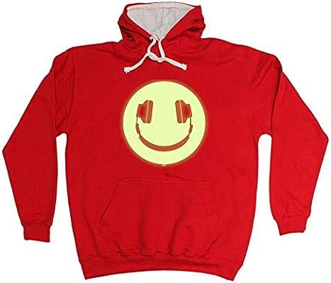 Smile Face Glow In The Dark Funny Novelty Hoodie Hoody hooded Top