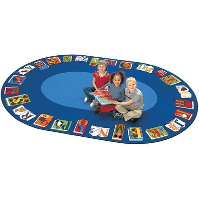 Reading by the Book Oval Rug