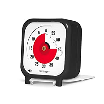 Time Timer Original 3 inch Visual Timer, A 60 Minute Countdown Timer for Kids Classrooms, Meetings, Kitchen Timer, Adults Office and Homeschooling Tool with Silent Operation (Black)