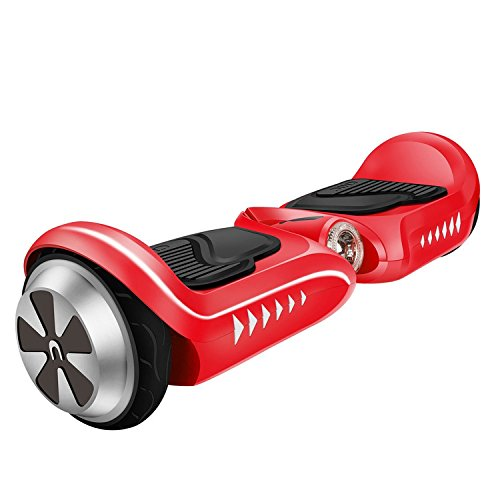 IOCHIC SMART-K2 Self Balancing Hoverboard Skins UL2272 Certificate Two-Wheel Self Balancing Electric Scooter for kids, LED Light(Red)