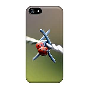 5/5s Scratch-proof Protection Cases Covers For Iphone/ Hot Nature Insects Macro Ladybirds Phone Cases
