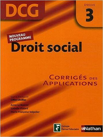 Lire un Droit social Epreuve 3 - DCG - Corrigés des applications pdf, epub ebook