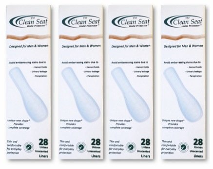 (The Clean Seat 4 Pack (112 pcs) Unscented/Complete Coverage for Men and)